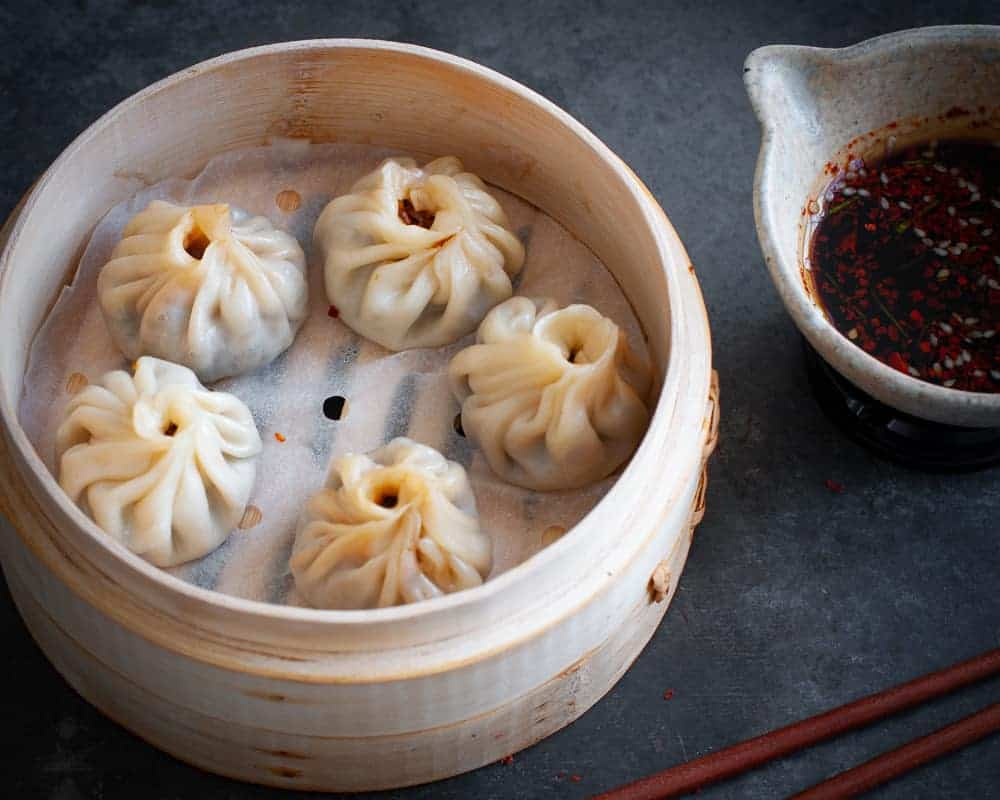 shiitake steamed dumplings