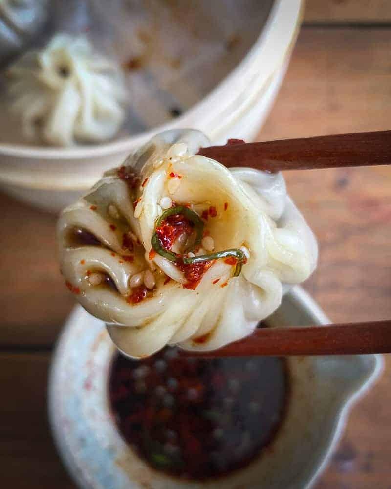 vegan shiitake dumplings