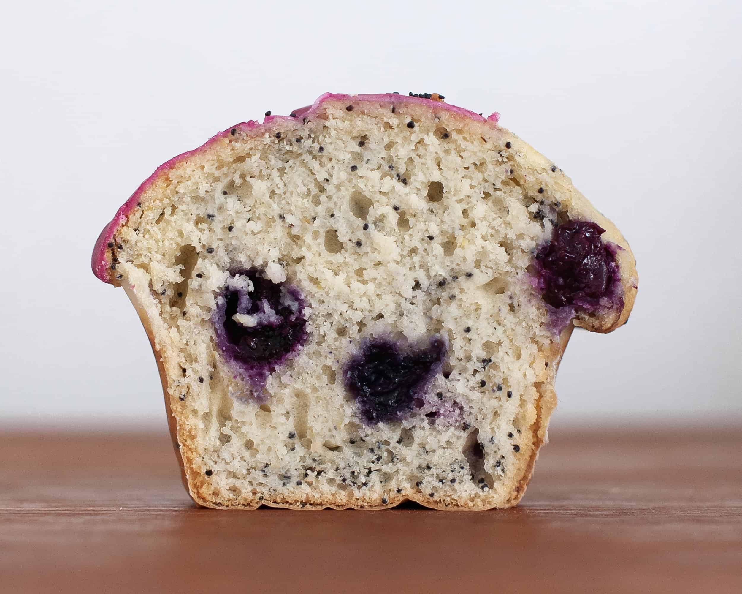 Lemon, Poppy Seed and Blueberry Glazed Muffins