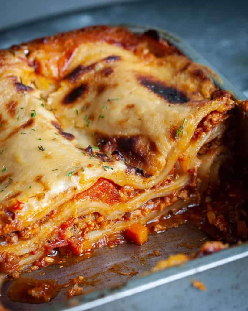 vegan burger lasagna