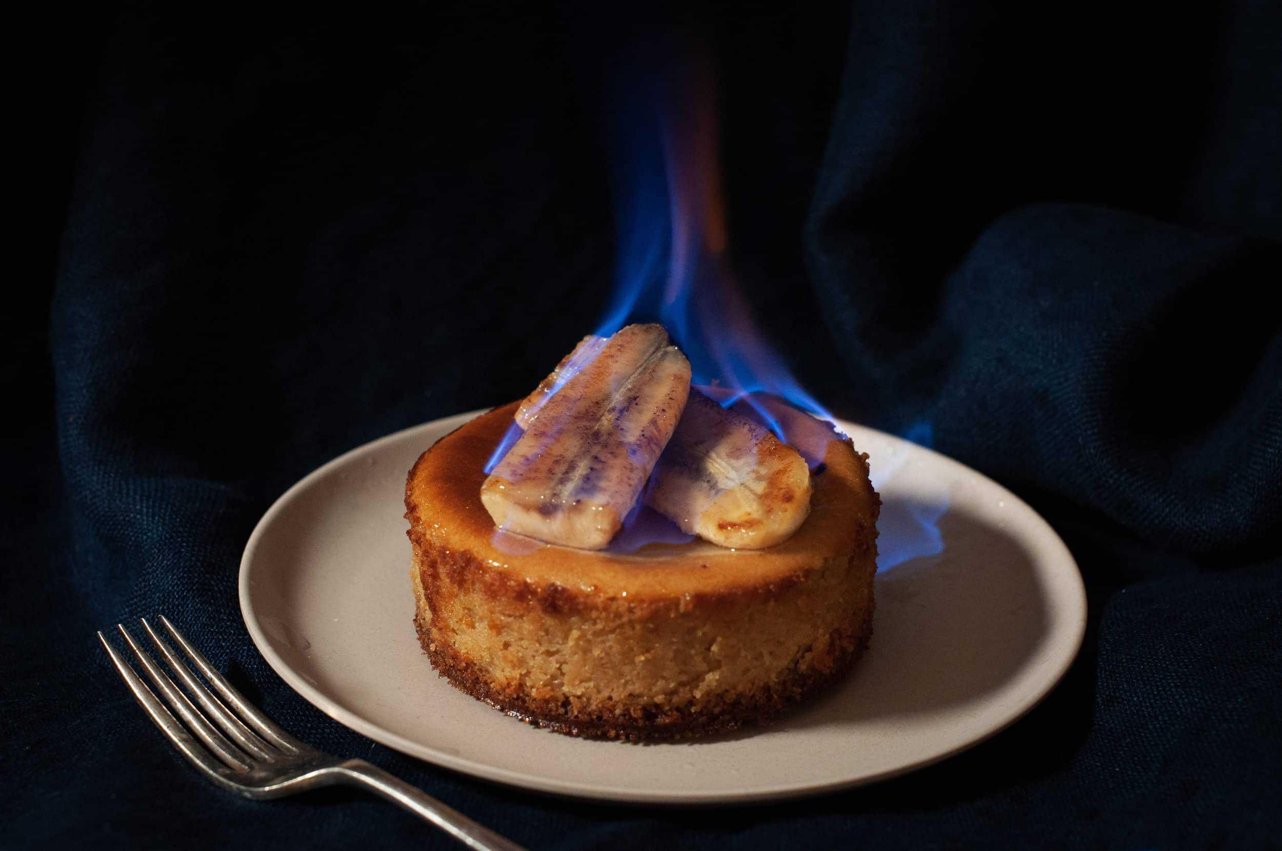 Bananas Foster Cheesecakes School Night Vegan
