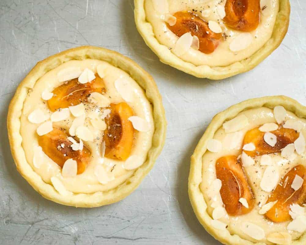 vegan frangipane tarts