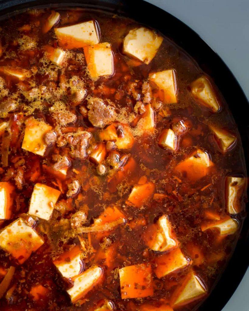 added tofu and mince