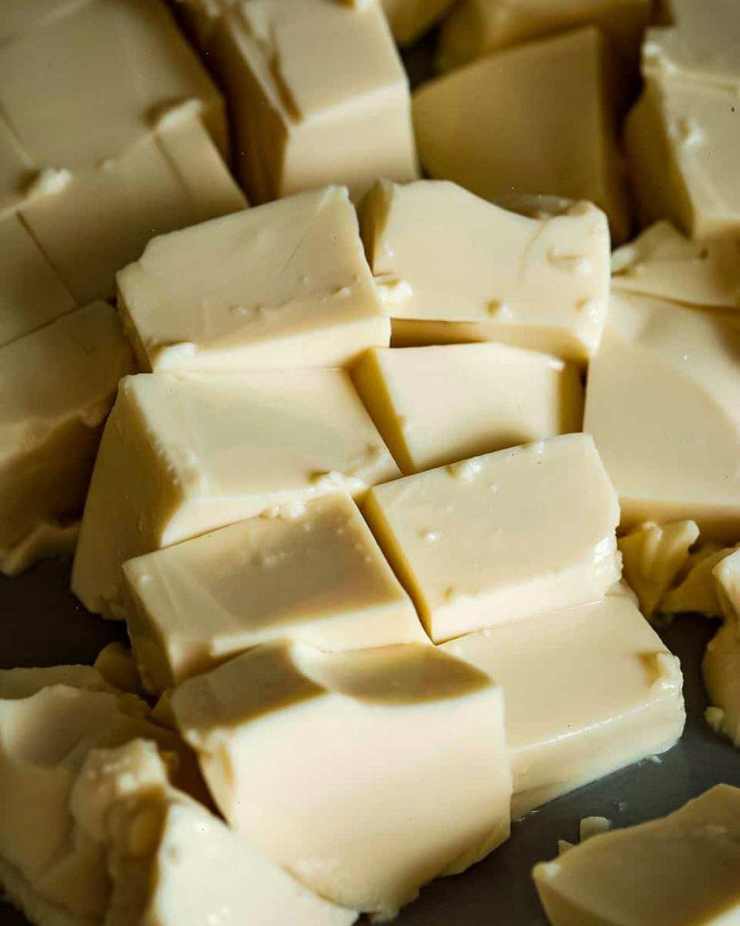 sliced silken tofu