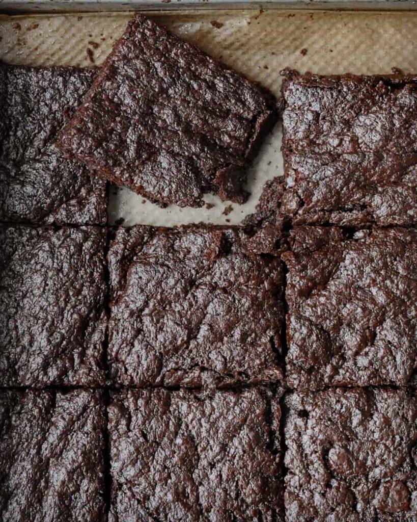 vegan miso brownies
