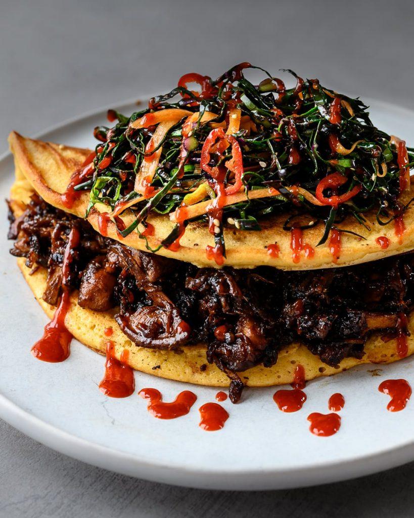 vegan kimchi pancake