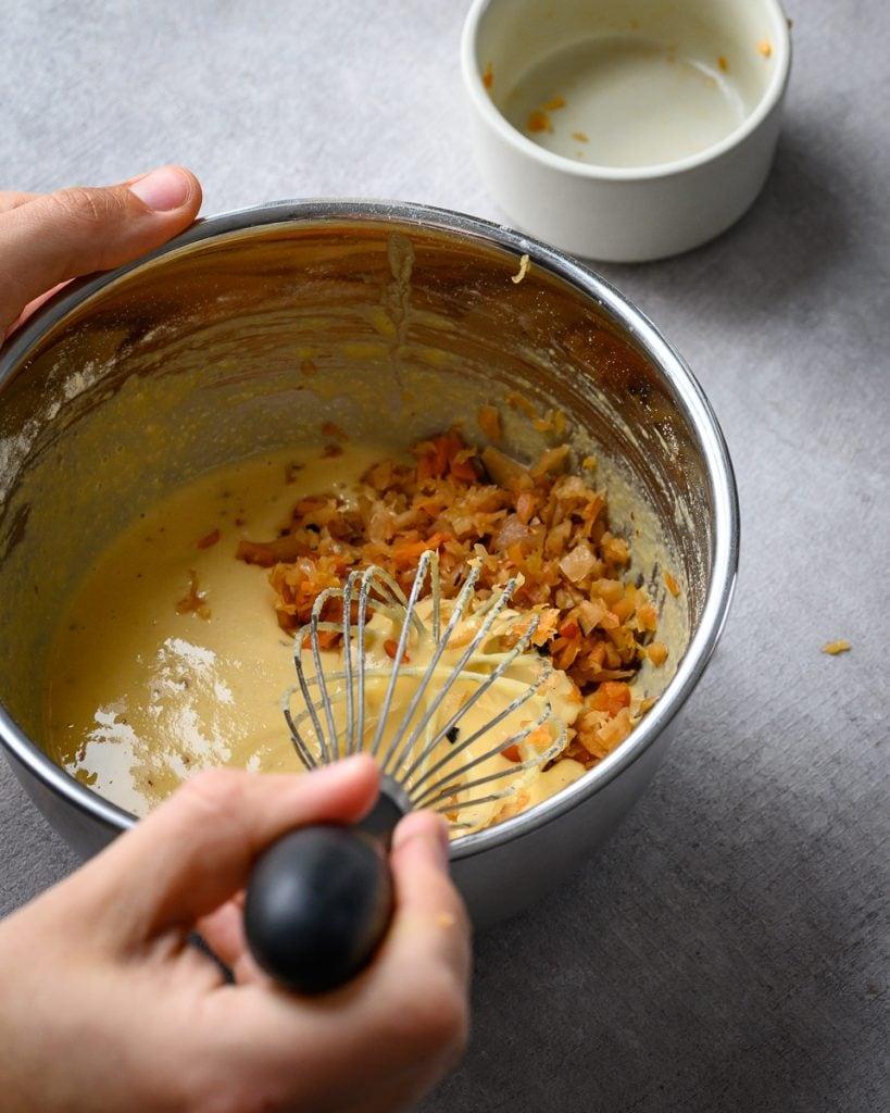 vegan kimchi pancake batter