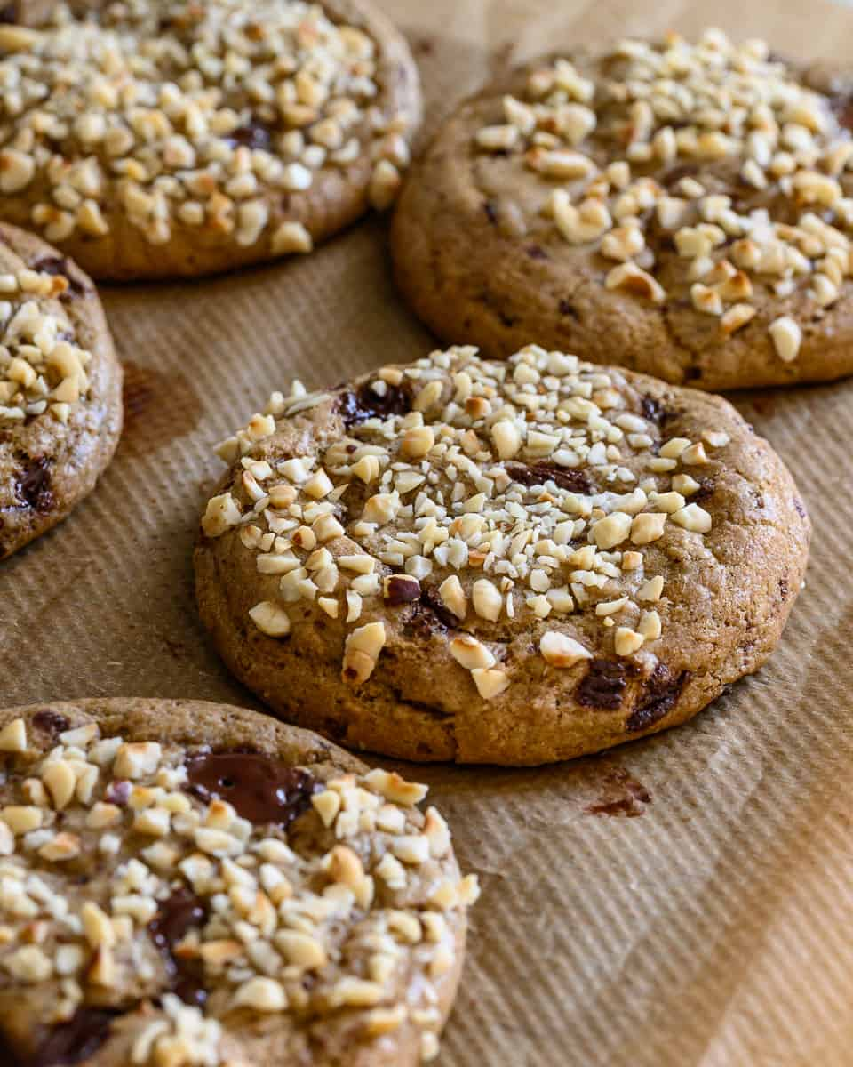 vegan nutella cookies