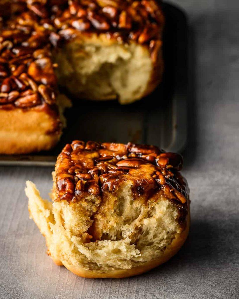 perfect vegan sticky apple butter rolls