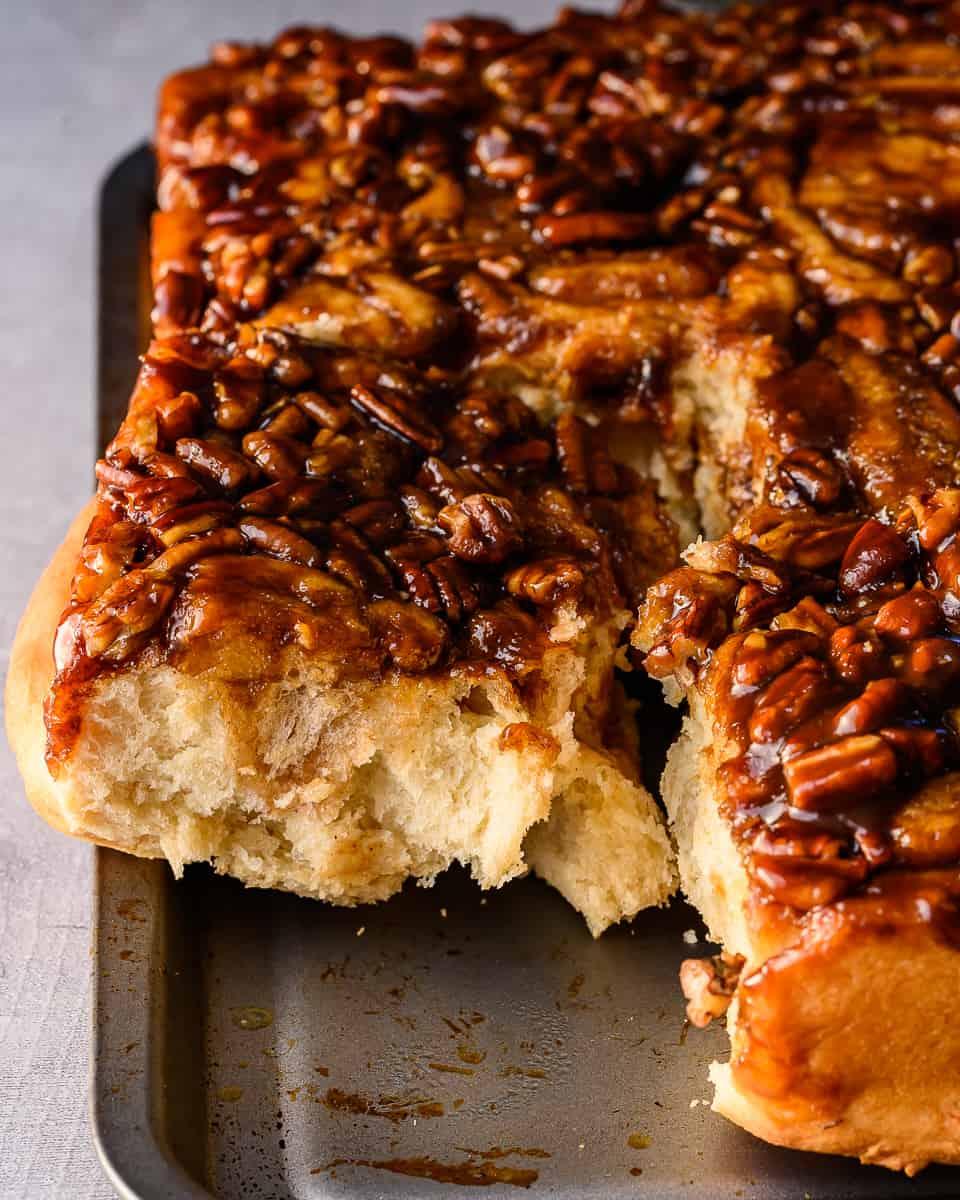 vegan sticky apple butter rolls