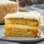 vegan coconut and lemon cake