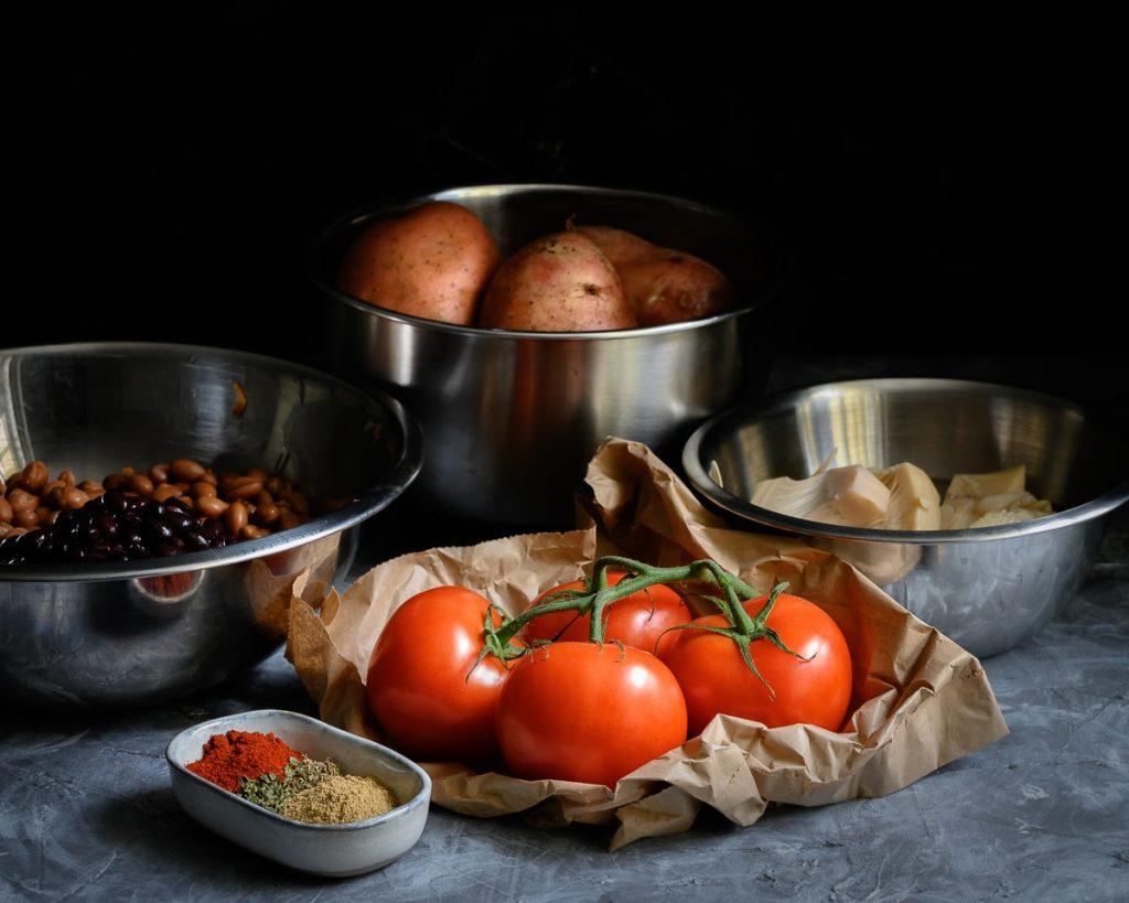 ingredients for vegan chilli