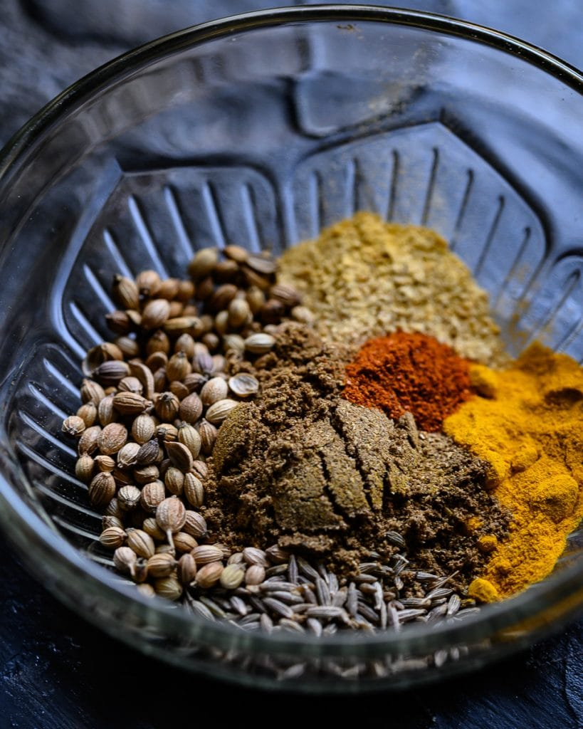 toasted spices for vegan curry
