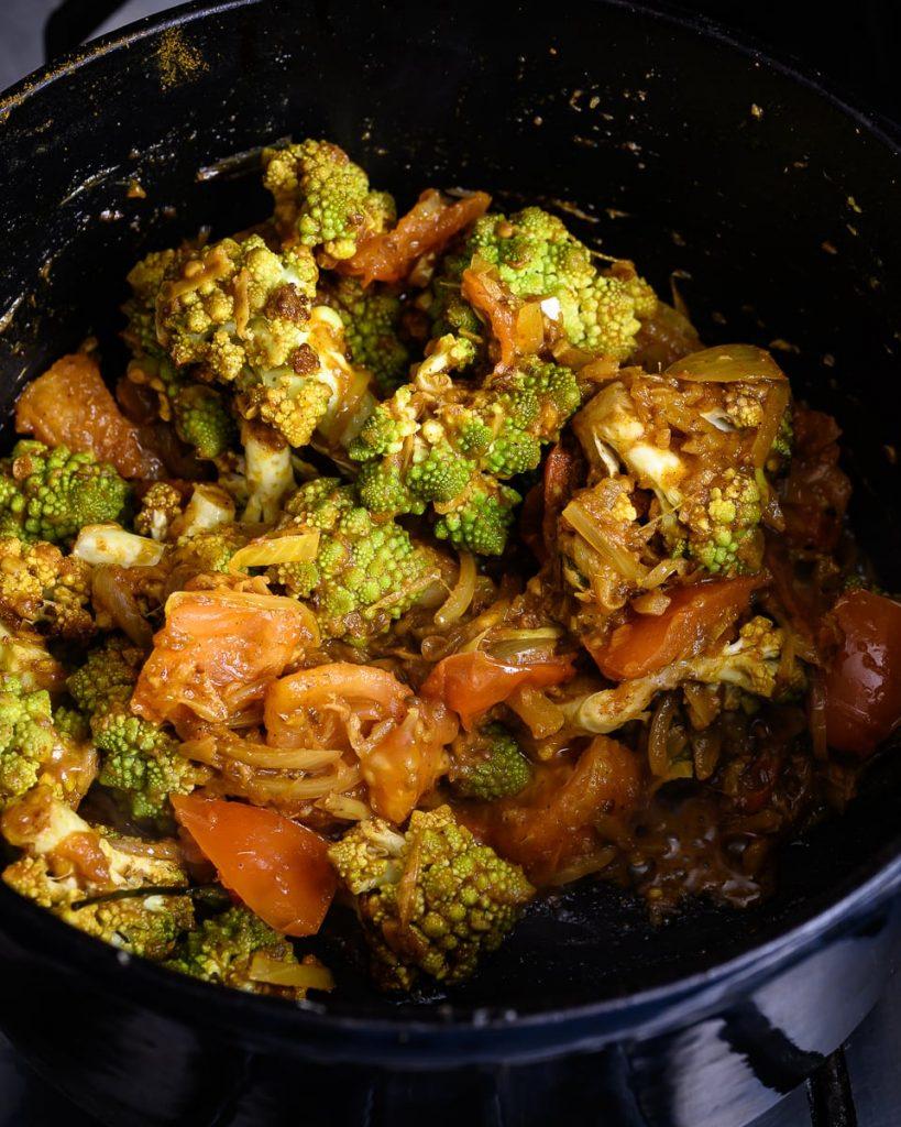 roasted romanesco dhansak