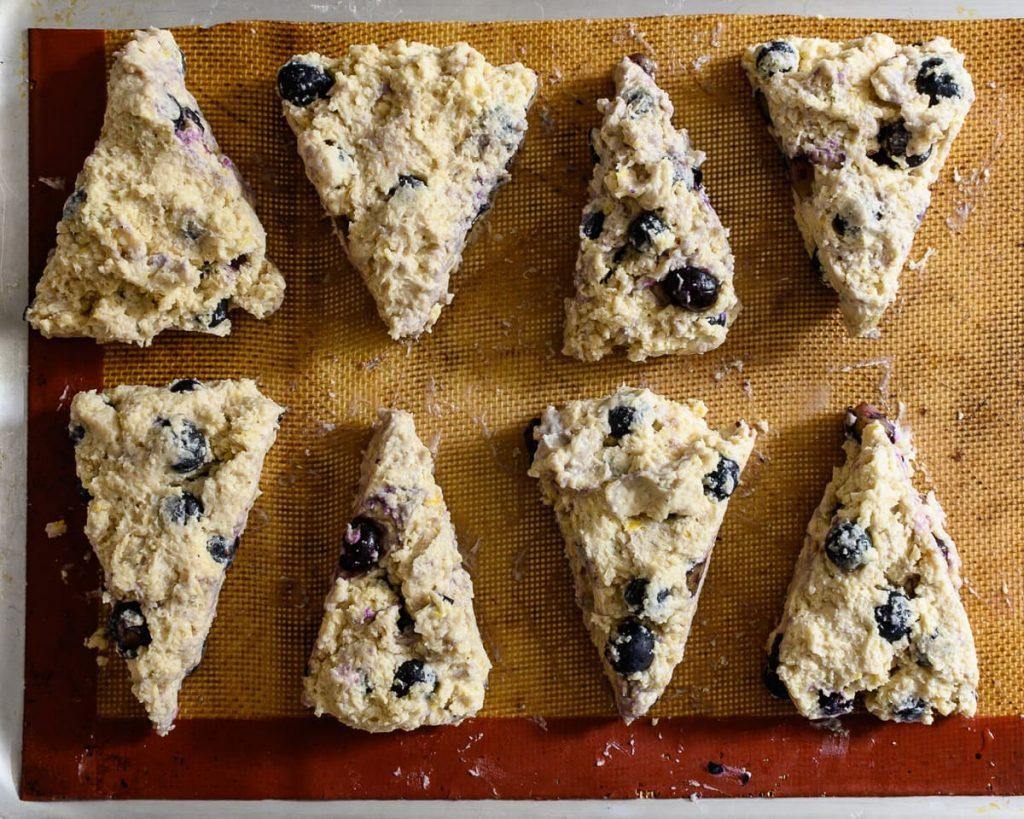 vegan blueberry lemon scones dough