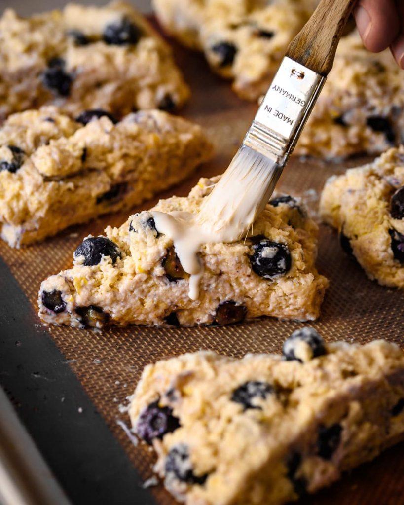 vegan blueberry lemon scones ready for baking