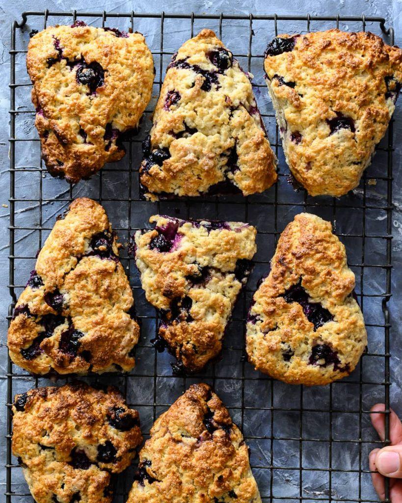 vegan blueberry lemon scones