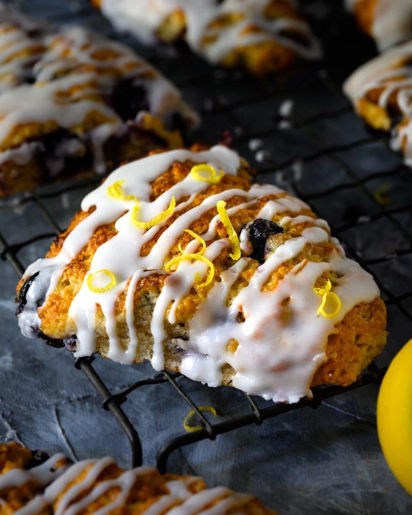 vegan blueberry scone