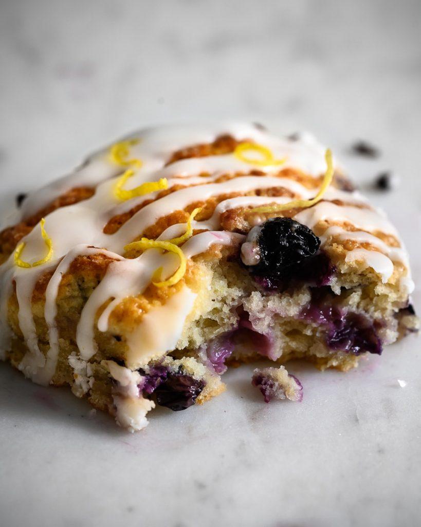 vegan blueberry lemon scone