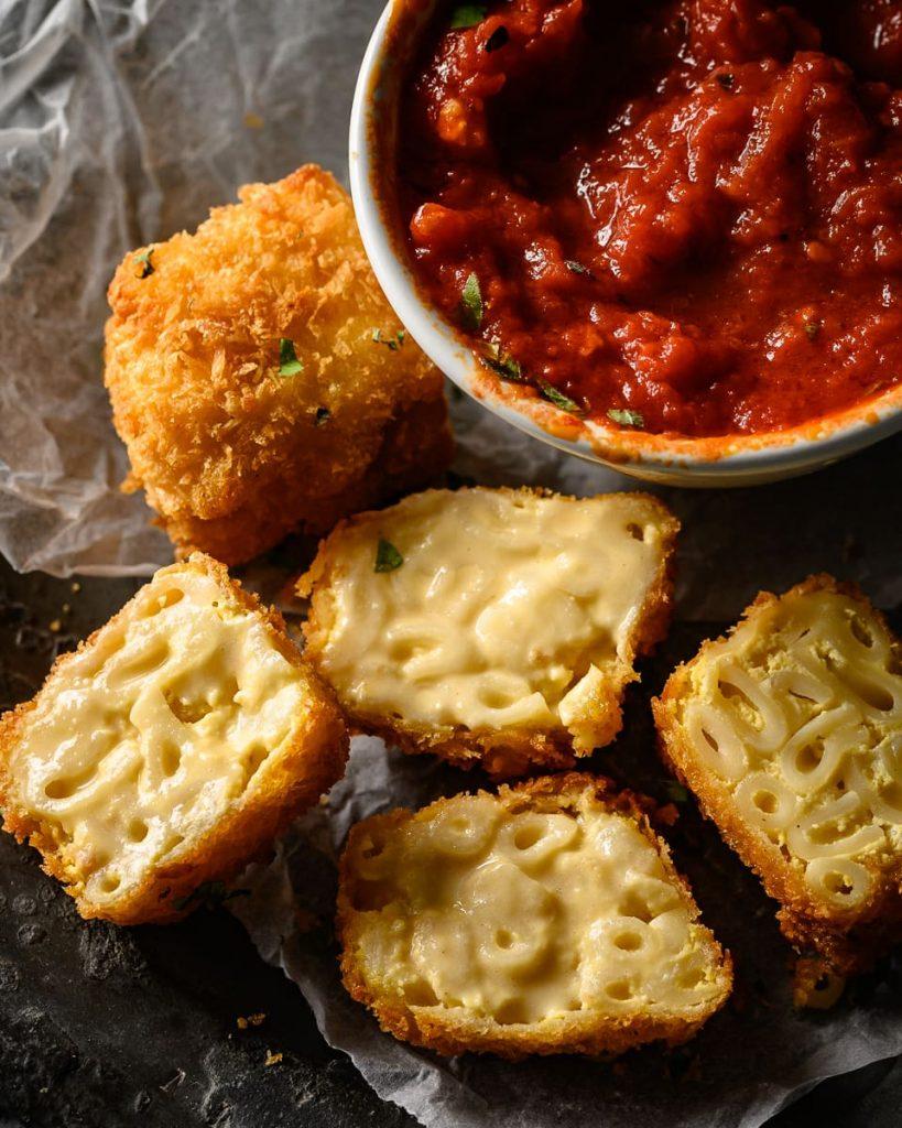 vegan mac and cheese bites