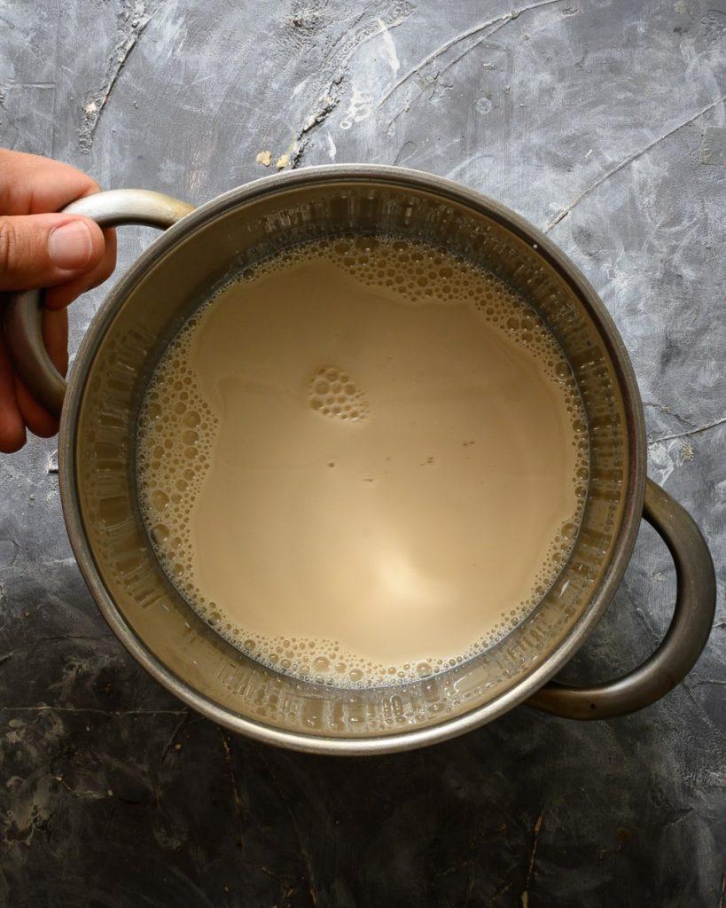 making vegan custard