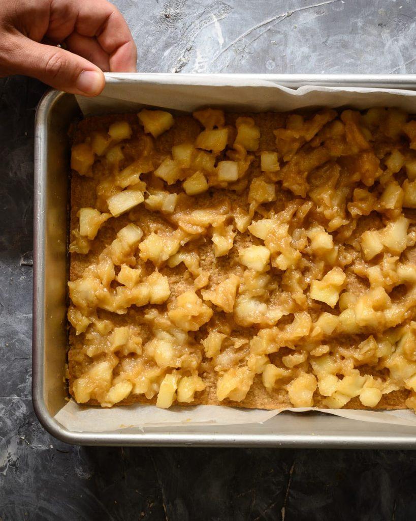 sauteed apple layer