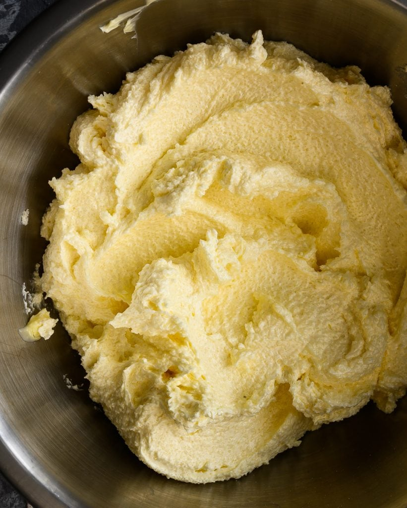 creamed vegan butter and sugar
