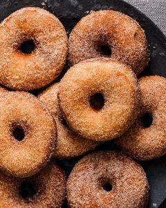 vegan cinnamon donuts
