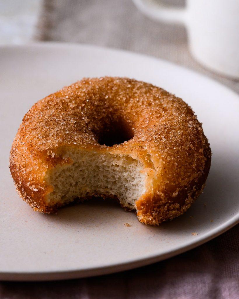 vegan cinnamon donut