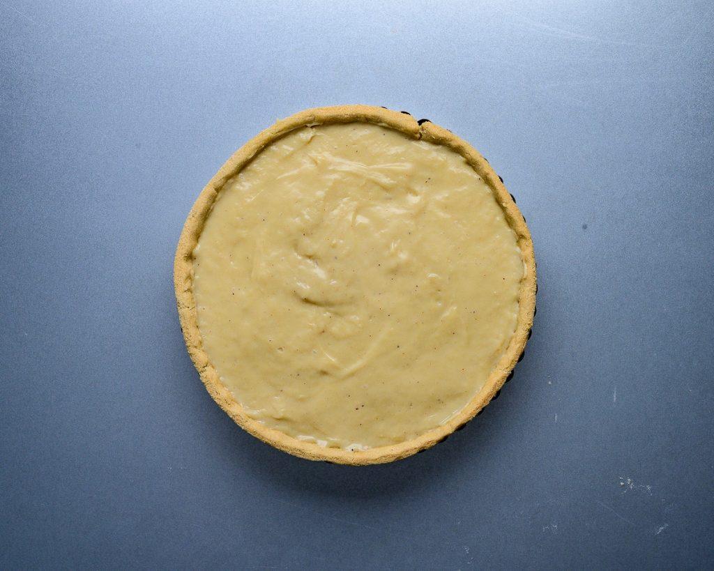 vegan eggnog custard tart