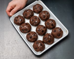 balls of cookie dough