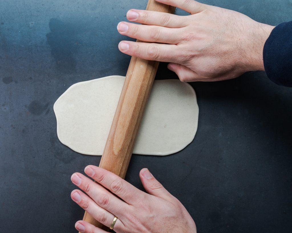 vegan scallion pancake