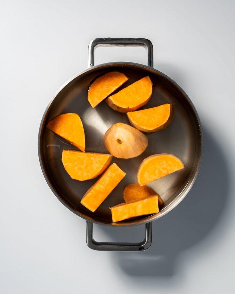 sweet potatoes boiling