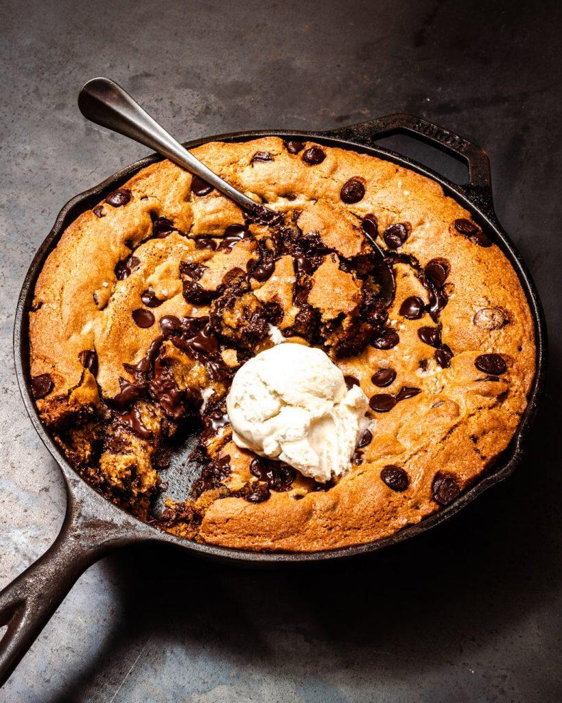 vegan skillet cookie