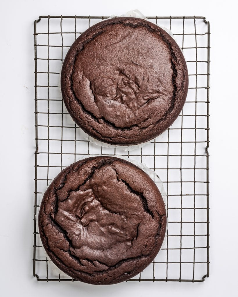 baked vegan chocolate sponge cakes